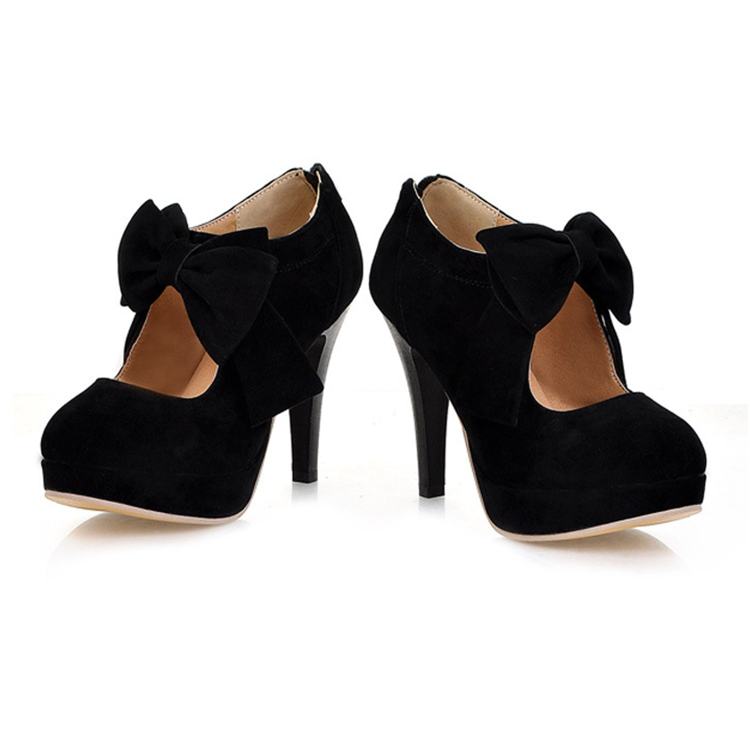 suede pumps prom womens high heel shoes size 2 3 4 5